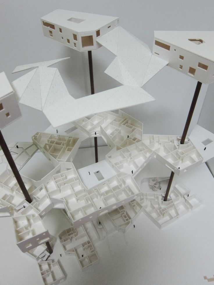 architecture the second semester of Junior housing project model