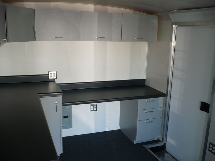 Custom Laminate Cabinets And Chemical Resistant Laminate Counter Top In  Mobile Testing Laboratory. Orange,