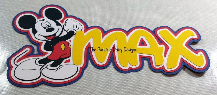 Mickey Mouse custom name