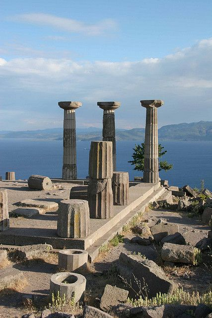 View of the Temple of Athena - Assos, Turkey