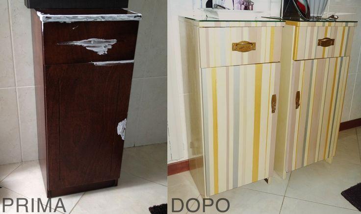 Il restauro di un vecchio mobiletto: un'operazione   abbastanza semplice che vi consente di dare nuova vita ad un mobile in disuso. http://www.cosedicasa.com/restyling-colorato-per-un-vecchio-mobiletto-38814/