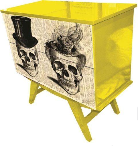 Cômoda Skull Cartola www.ocasaraomoveis.com.br