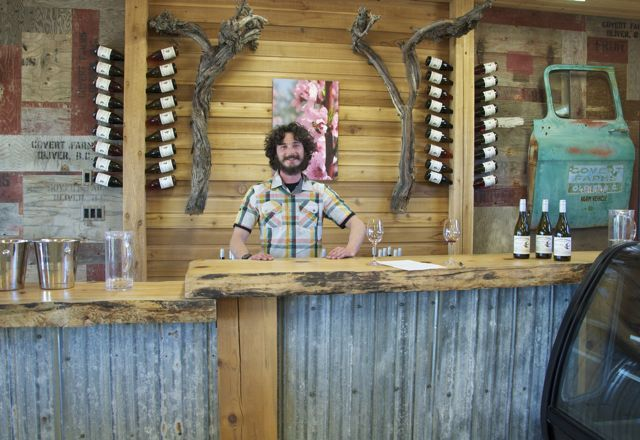 Reilly in the Covert Farms tasting room: http://tastingroomconfidential.com/covert-farms-overt-abundance/#.UZJuxuC3czQ