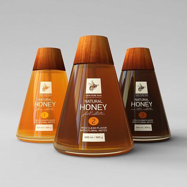 honey #packaging by Alexander Seliverstov