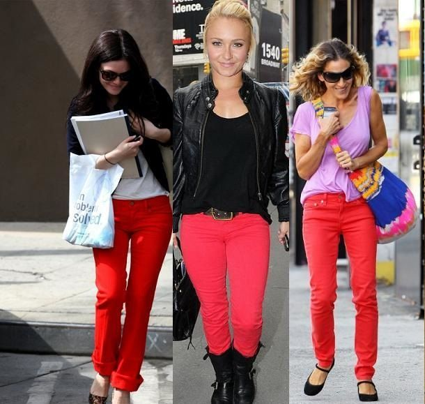 Red Jeans for Women 2013