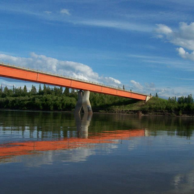 Peace River bridge / fort vermilion Alberta