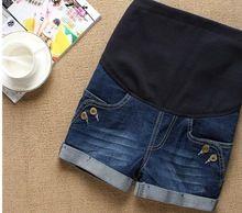 2015 материнство брюки, лето беременных джинсы шорты, джинсовые шорты для беременных женщин бесплатная доставка(China (Mainland))