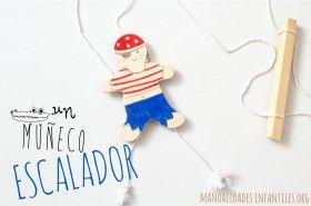 Juguete escalador de madera. #Manualidades hechas de #Madera