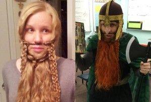HOWTO braid your long hair into a Gimli beard.