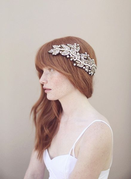 Antique crystal headwrap - Style # 330 (2013, antique inspired, crystal headpiece, hair adornments, headpieces, twigs & honey, view all) | Headpieces | Twigs & Honey ®, LLC