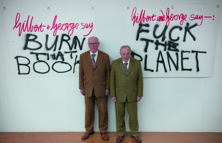 Gilbert and George living sculptures