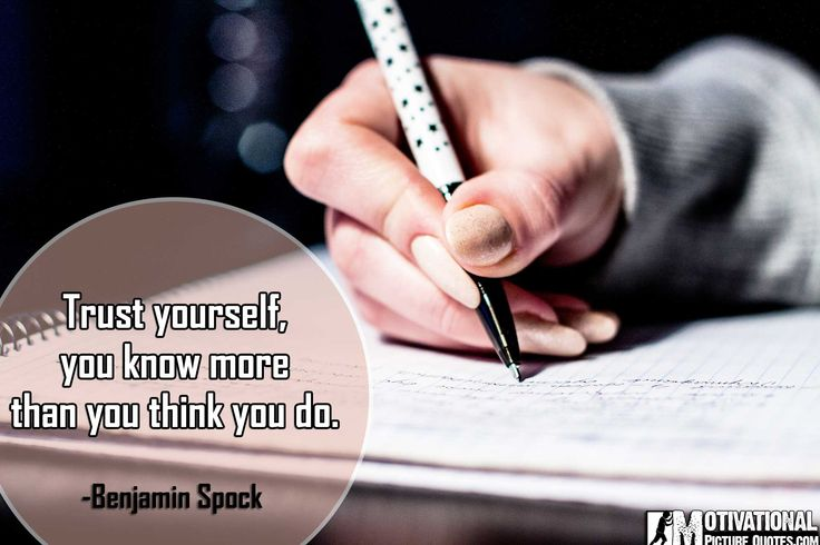 Inspirational Exam Quotes by Benjamin Spock