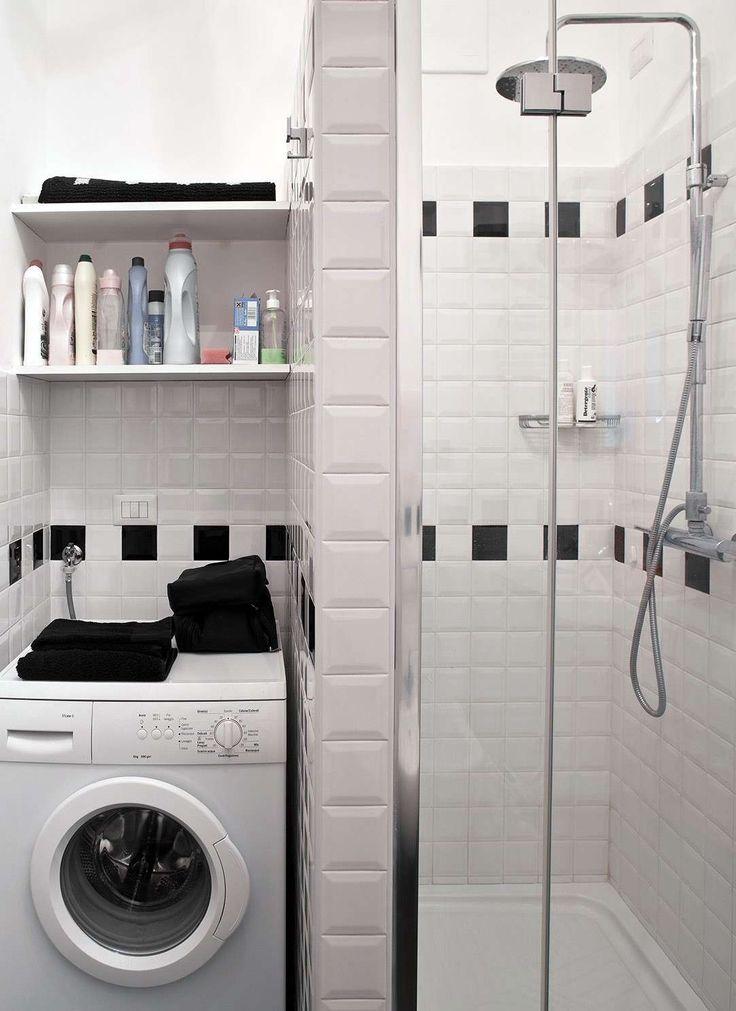 Bagno piccolo con lavatrice (Foto 37/40) | Design Mag
