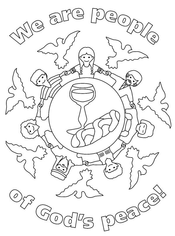 god is always with us coloring page - first communion worksheets for children peace coloring