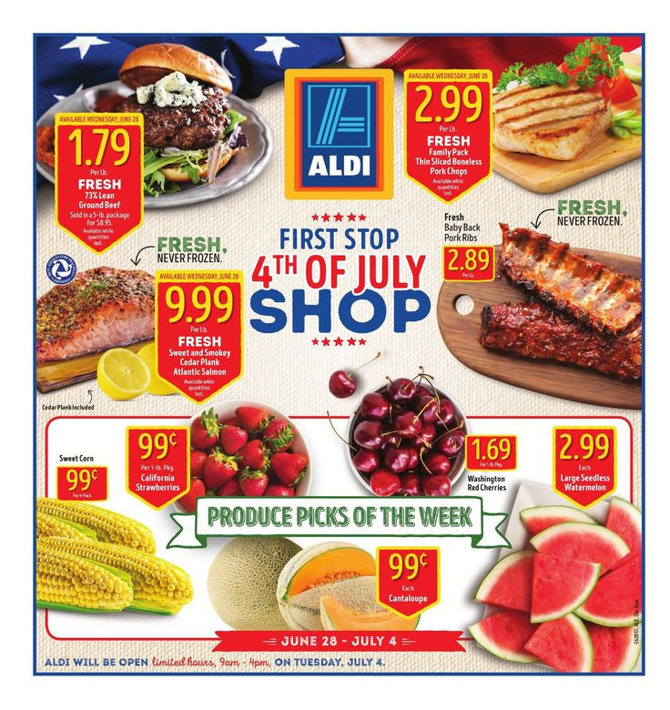 Aldi Ad June 28 – July 4, 2017. View the Latest Flyer and Weekly Circular ad for Aldi Here. Likewise you can find the digital coupons, grocery savings, offers, This Week Aldi Ad sale prices, weekly specials and the latest deals from Aldi. Have you been using these ads? Here are Aldi weekly ad this week 6/28/2017 – 7/4/2017