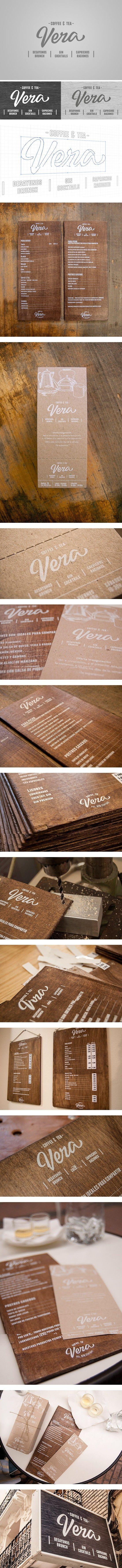 restaurants inspiration / branding | Vera brand & menu design | restaurant menu