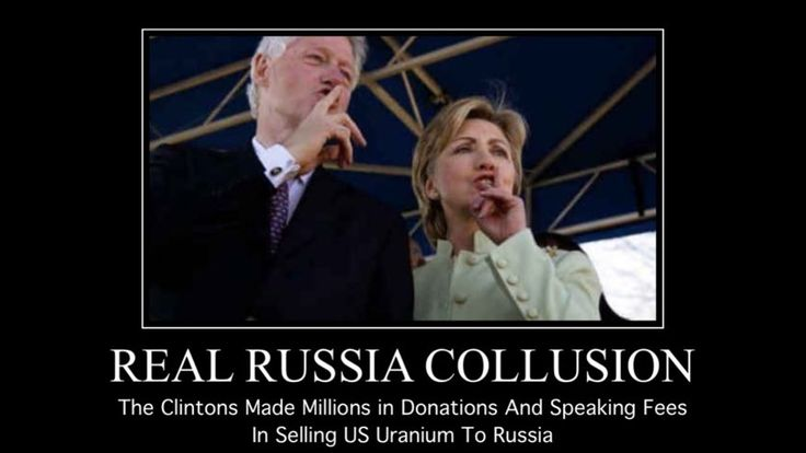 "If people ""want to talk about having relationships with Russia look no further than the Clintons"" ""Bill Clinton was paid half a million dollars to give a speech to a Russian bank, …"