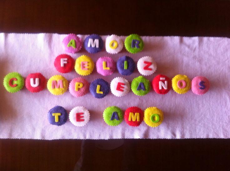 Cupcakes mensaje