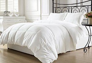 White Twin XL down comforter $35 on amazon. College students get free 2 day shipping.