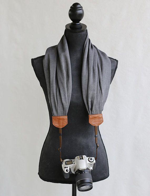 courroie de lappareil écharpe tissée charcoal par bluebirdchic