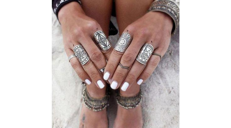 Bohém gyűrű szett
