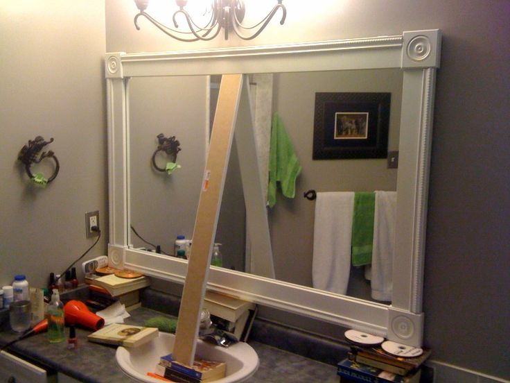 1000 Ideas About Mirror Border On Pinterest: Best 25+ Frame Bathroom Mirrors Ideas On Pinterest