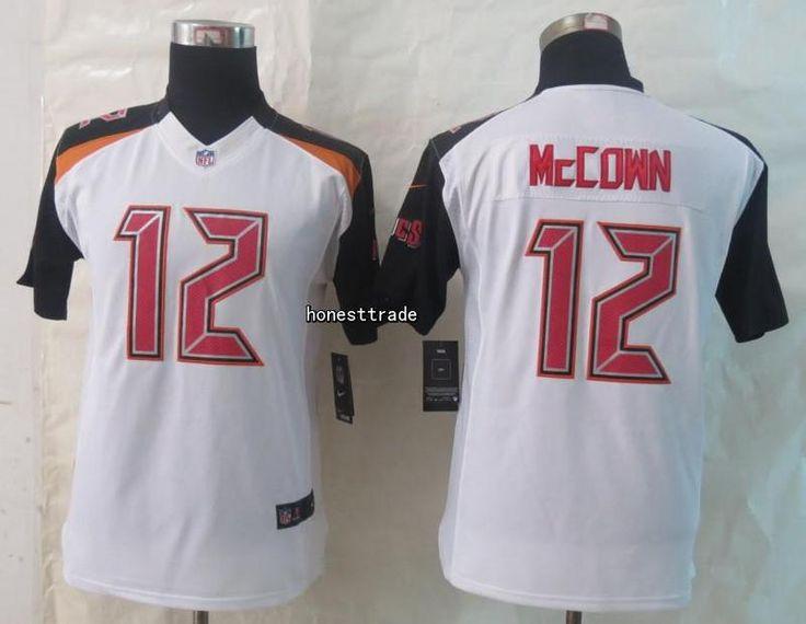 Men's NFL Tampa Bay Buccaneers #12 McCown White Elite Jersey