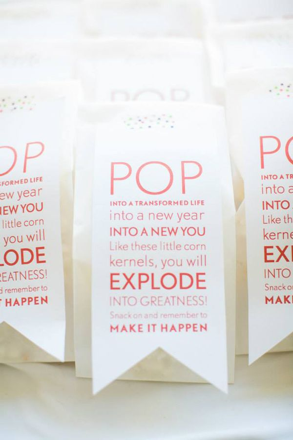 The popcorn idea you had, but with a cute tag on it ...