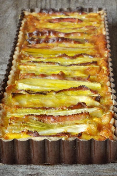tarte poireau-lard-comté
