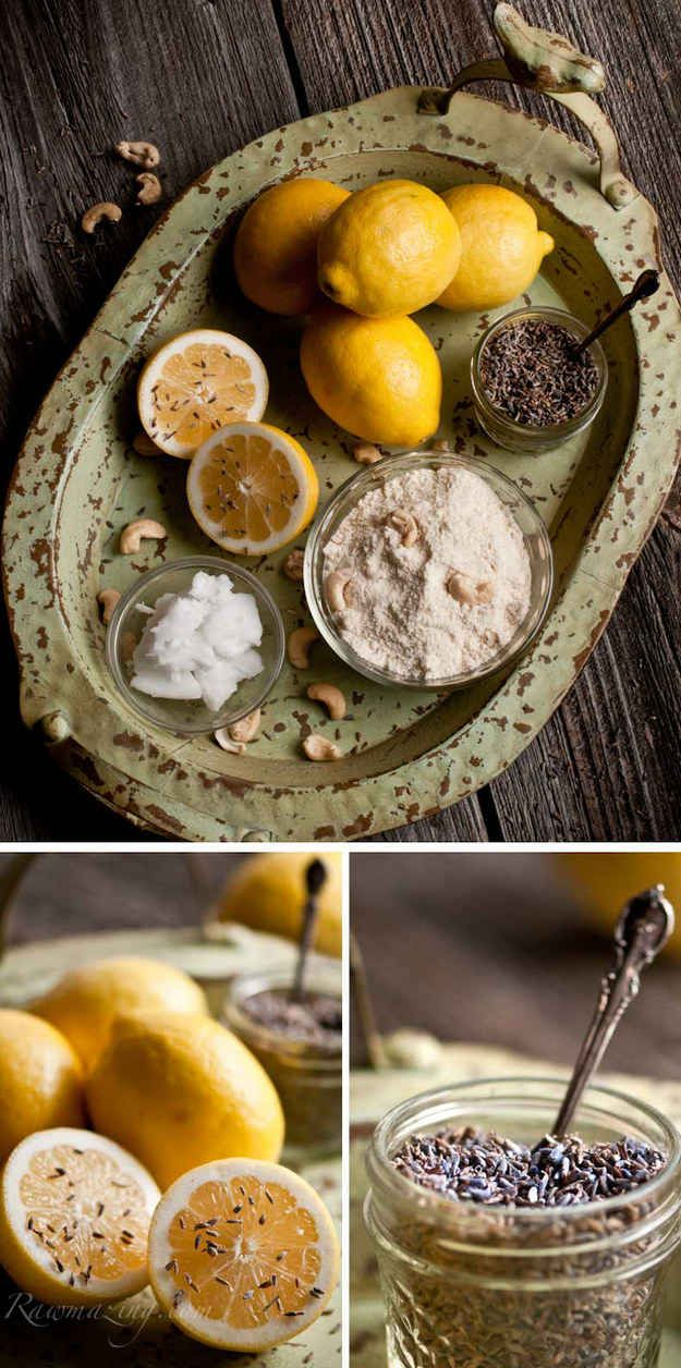 Raw Lavender Lemon Tea Cookies