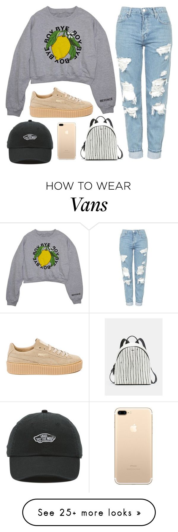 """""""Tell him boy bye"""" by tigerlily789 on Polyvore featuring Topshop, Puma, DKNY and Vans"""