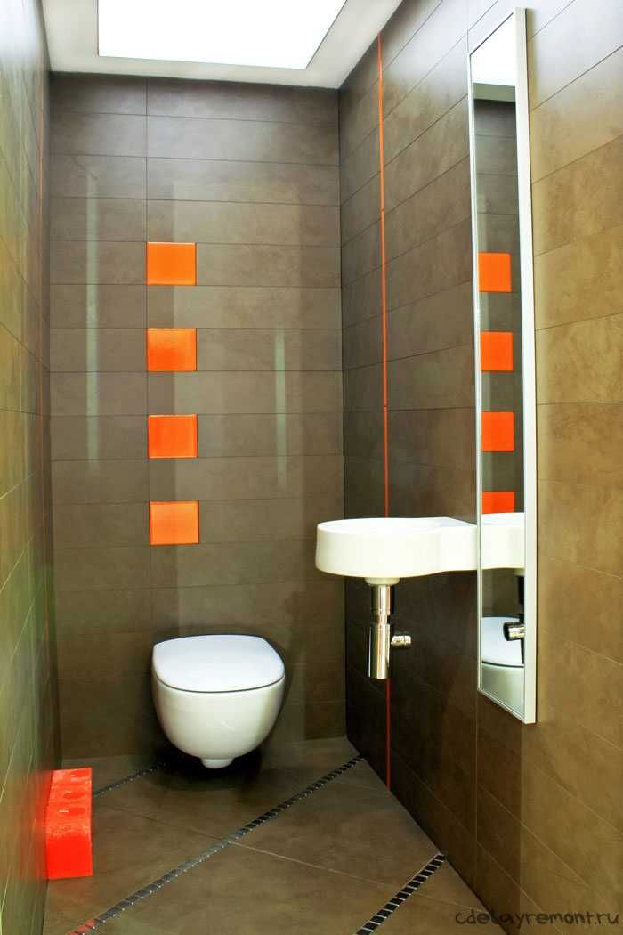 Оригинальный дизайн небольшого туалета в хрущевке