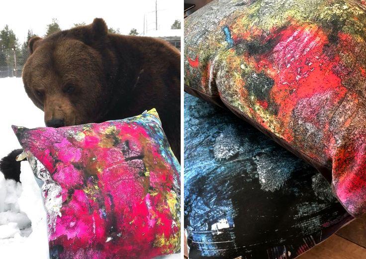Juuso-karhun abstraktimaalaus