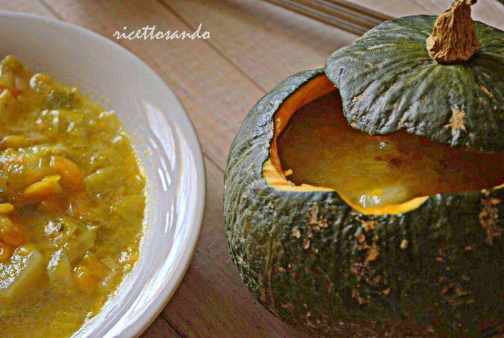 Zuppa vegetariana di zucca patate e porri  #ricetta di @luisellablog