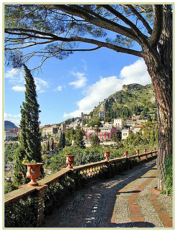 'An Enchanting Stroll' - Taormina, Sicily...photo and commentary by Stella Marinazzo
