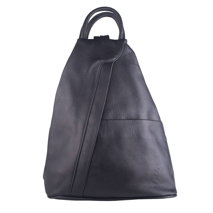 Power walk in style with the Peta Black Backpack. It's the perfect size so as not to intrude on your exercise, and the soft Italian leather is soft and snug against your skin. On Sale Now for $225! #backpack #soft #leather #bag #style #fashion #black