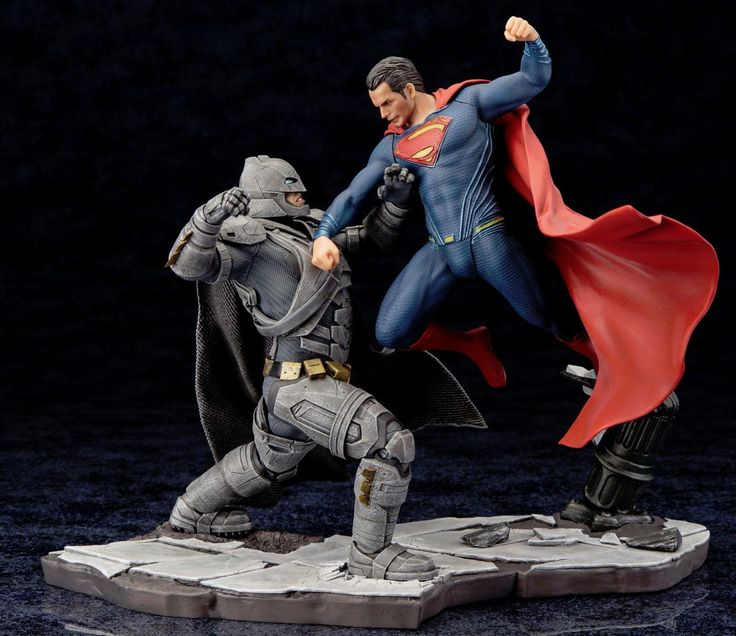 KotoBukiya BATMAN v SUPERMAN DAWN OF JUSTICE MOVIE ARTFX+ STATUE 2 Piecec Set