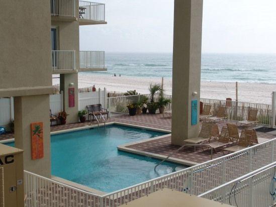 panama city beach beachside pool partially shaded 1st floor 2