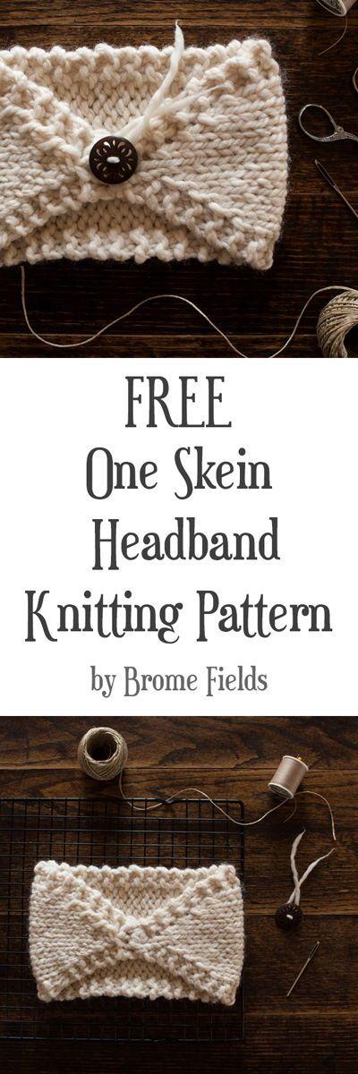One Skein Knitting Pattern: Padrão de confecção de malhas para iniciantes GRÁTIS: Perfeitamente ...
