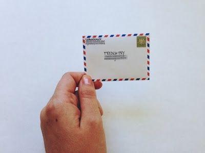 mini envelop for a mini portfolio