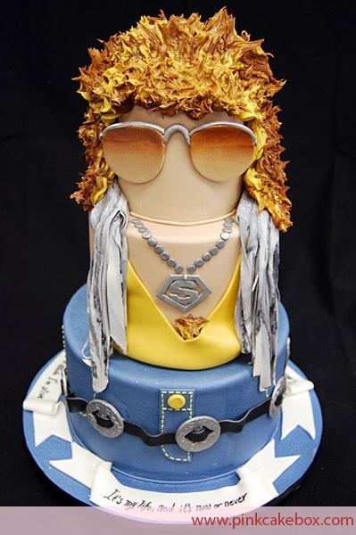 It's a Jon Bon Jovi cake!!!  Ahhhhh!!
