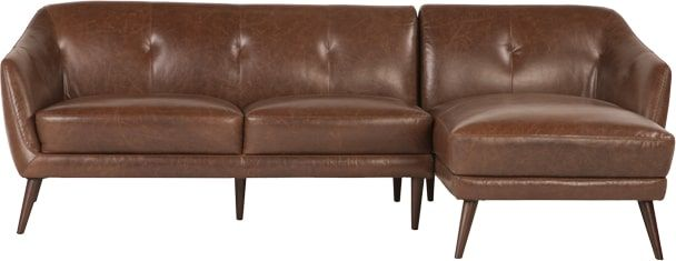 Nevada Right Corner Sofa, Antique Cognac Leather from Made.com. Brown. Express delivery. Stop searching - the Nevada collection is it. This leather ..
