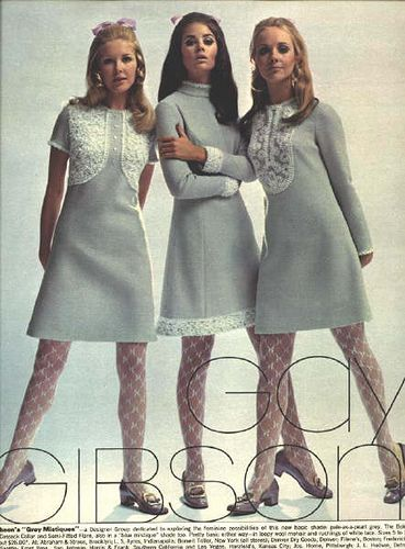 Gray and lace dresses. Colleen Corby 17_Sept68_0002a by Matthew Sutton (shooby32), via Flickr