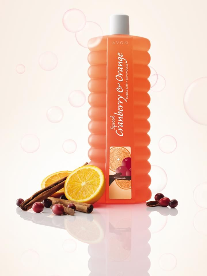 AVON Bubble Bath Schaumbad Cranberry-Orange.