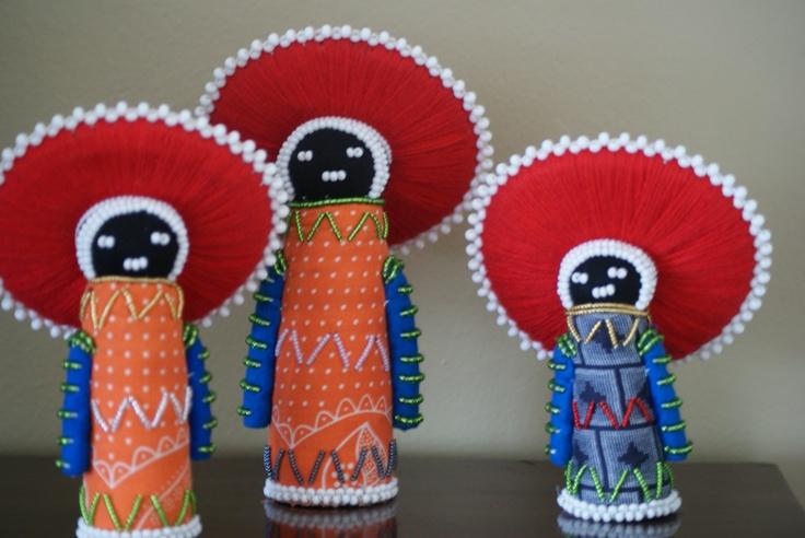 Shweshwe beaded dolls by Siyazama doll project- South Africa