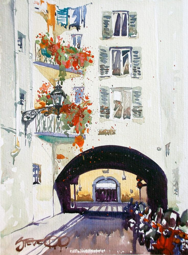 Washing Day, Florence, Italy- watercolours of Italy by Steve PP. | vespa art | Pinterest | Watercolor, Art and Fine Art