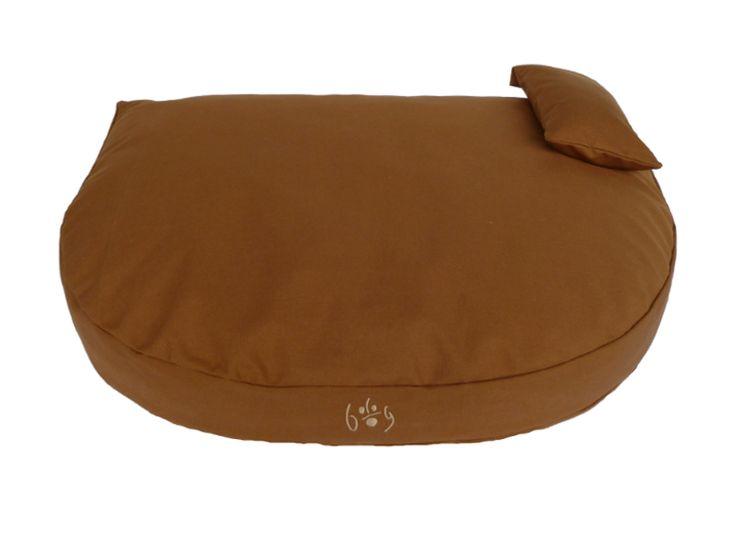 Organic Dog Bed brown / Bio Hundebett braun  #organicdogbed #organic #bio #dogbed #biohundebett #naturalfilling