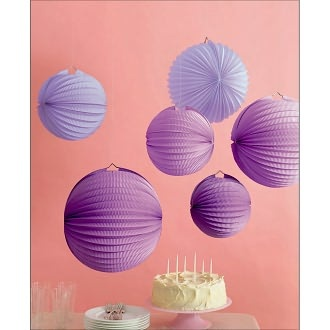 okay forget my pom pom idea- going with these purple lanterns instead from oriental trading!