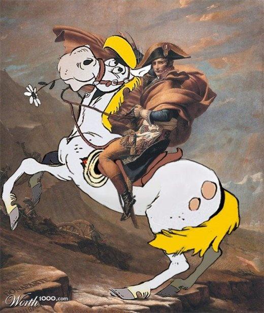 Haha Jolly Jumper en Napoleon. Goeie combi!