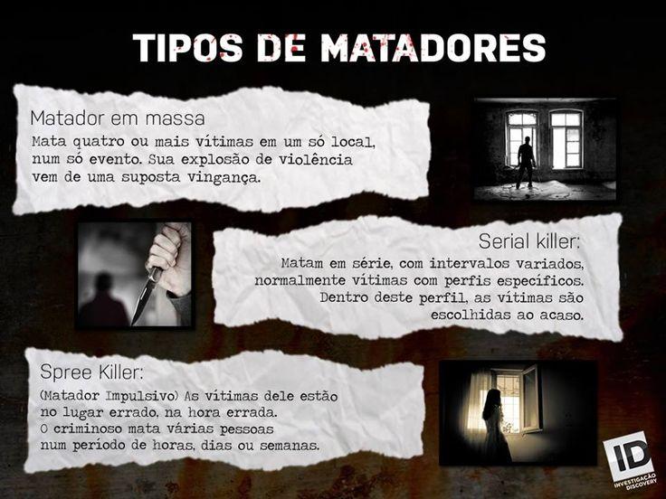 Por incrível que pareça, há 3 tipos de assassinos em série, embora haja somente uma coisa em comum entre eles: matar friamente.